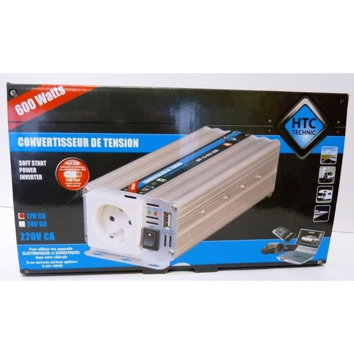 Convertisseur WP 12/220V 600W avec Prise USB