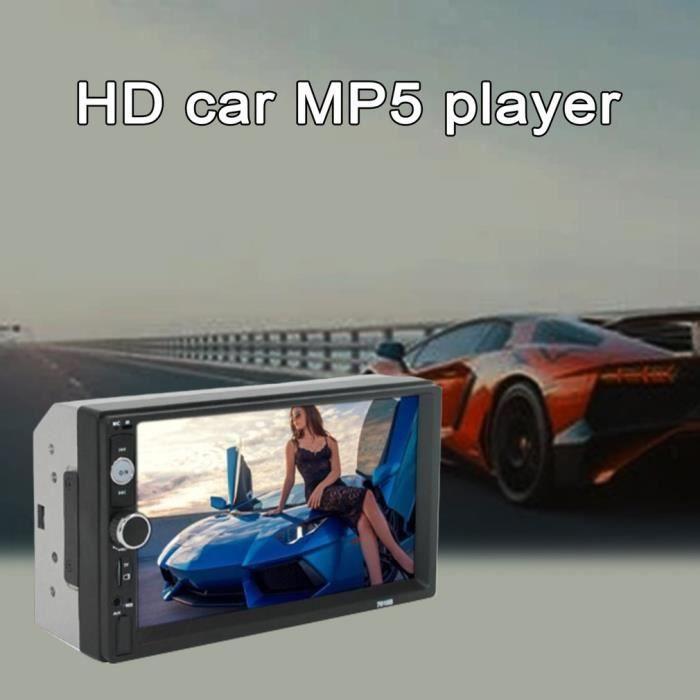 2 din autoradio 7 pouces haute définition autoradio lecteur multimédia écran tactile audio voiture stéréo mp5 sans fil