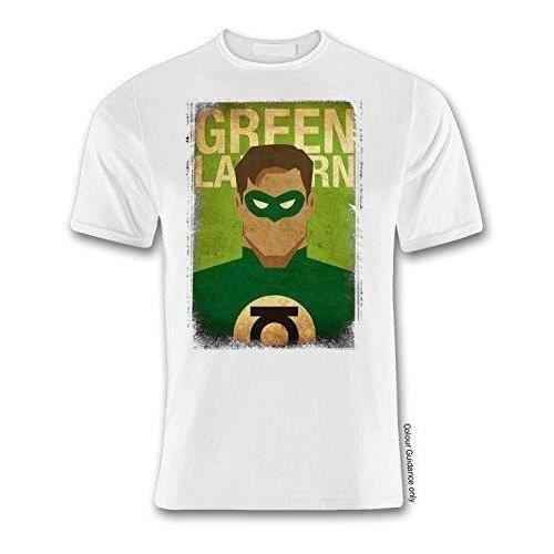 Super Hero 10 Green Lantern White T Shirt (XLarge)
