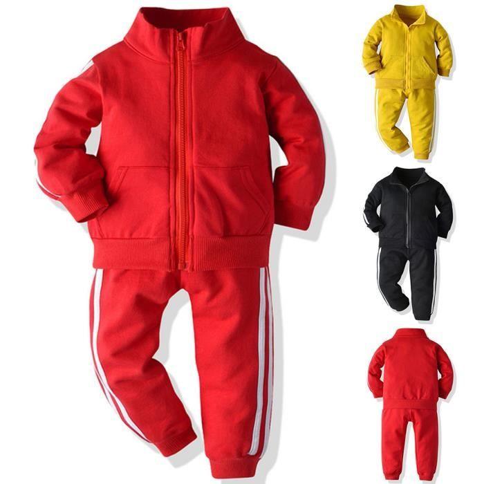 Enfant en bas âge bébé garçons filles manteau à manches longues pantalon vêtements de sport tenues survêtement 120