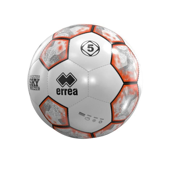 Ballon Errea magister skyline - blanc/noir/orange - Taille 5