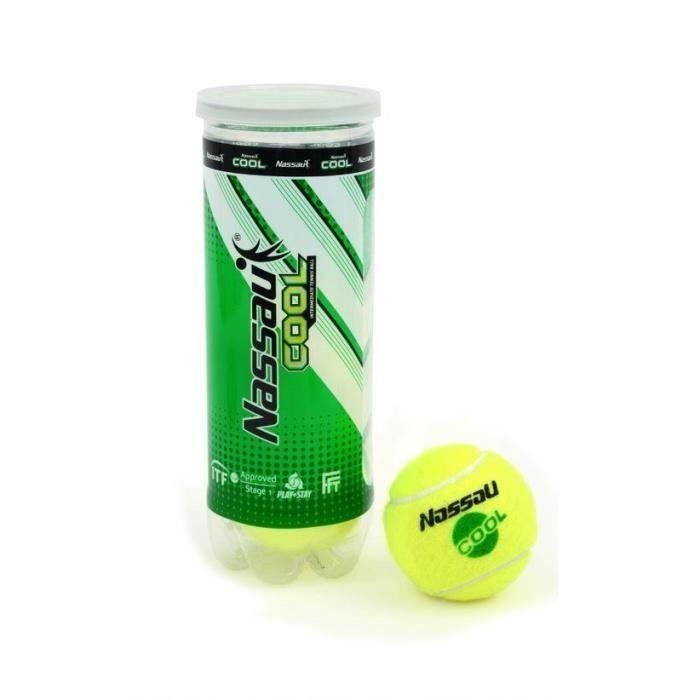NASSAU tube de 3 balles de tennis