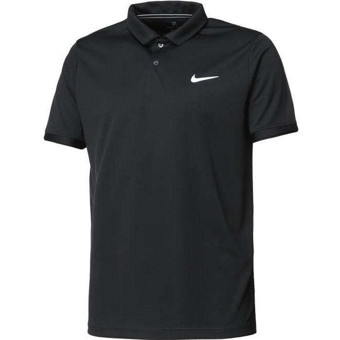 NIKE Polo de Tennis Dry Team - Homme - Noir