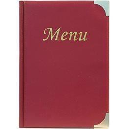 Protège menu basique A5 bordeaux - 1er prix