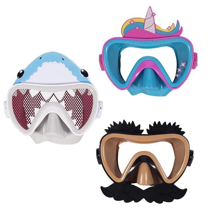 SWIMWAYS Masque de natation Funny Face - Drôle De Tête - Modèle aléatoire