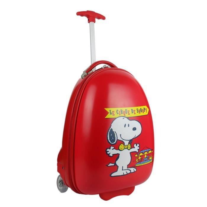Valise ABS+ sac à dos -Snoopy- rouge 41 cm