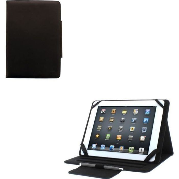 Etui support tablette universel 10- Noir UTABFOL10
