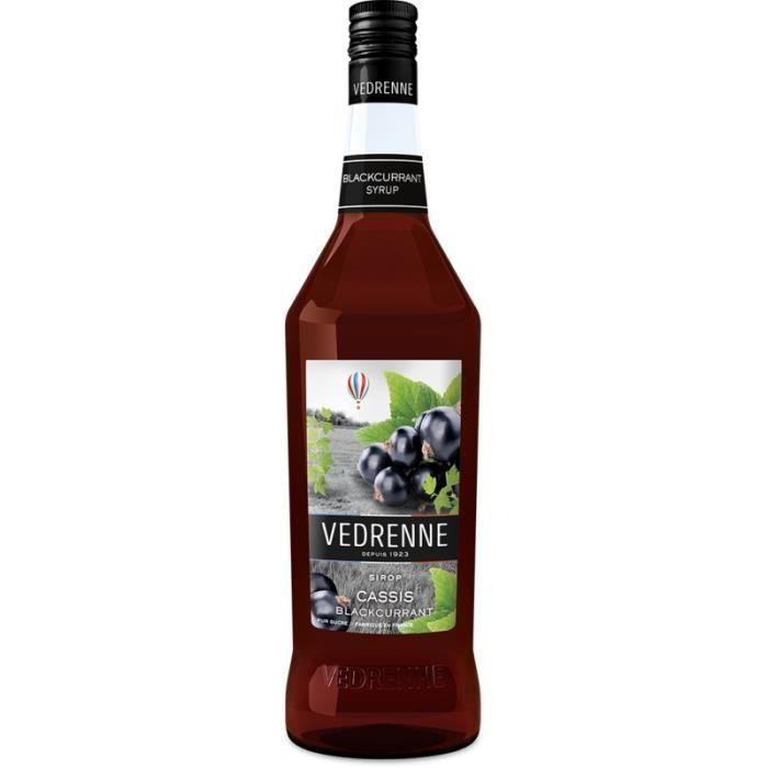 Sirop de Cassis VEDRENNE 100cl - Fruité et acidulé