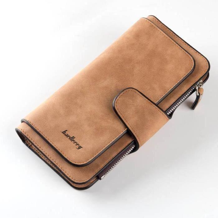 Bleu Portefeuille pour homme en PU cuir Porte monnaie avec poche à monnaie et porte-carte amovible compartiment à fermeture