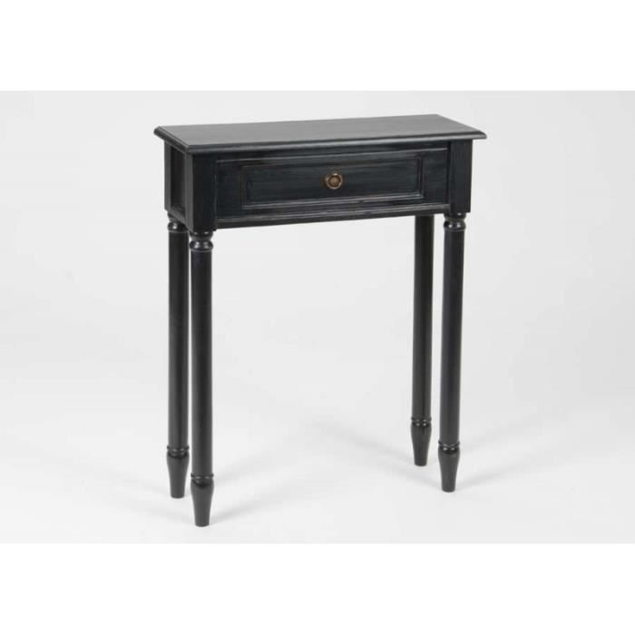 console 60 cm en bois c rus noir brice noir achat vente console console 60 cm en bois c rus. Black Bedroom Furniture Sets. Home Design Ideas