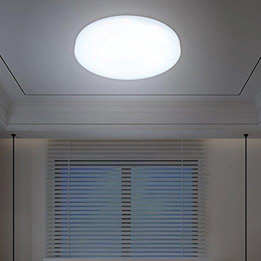 ABAT-JOUR 12W Plafonnier de salon LED Luminaire Intérieur Bl