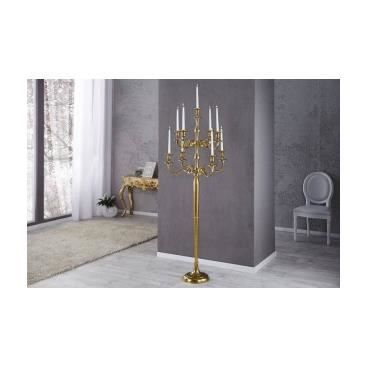 chandelier sur pied 9 bougeoirs orchidea or achat vente bougeoir aluminium cdiscount. Black Bedroom Furniture Sets. Home Design Ideas