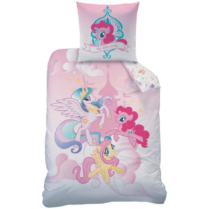 housse de couette little pony achat vente housse de. Black Bedroom Furniture Sets. Home Design Ideas