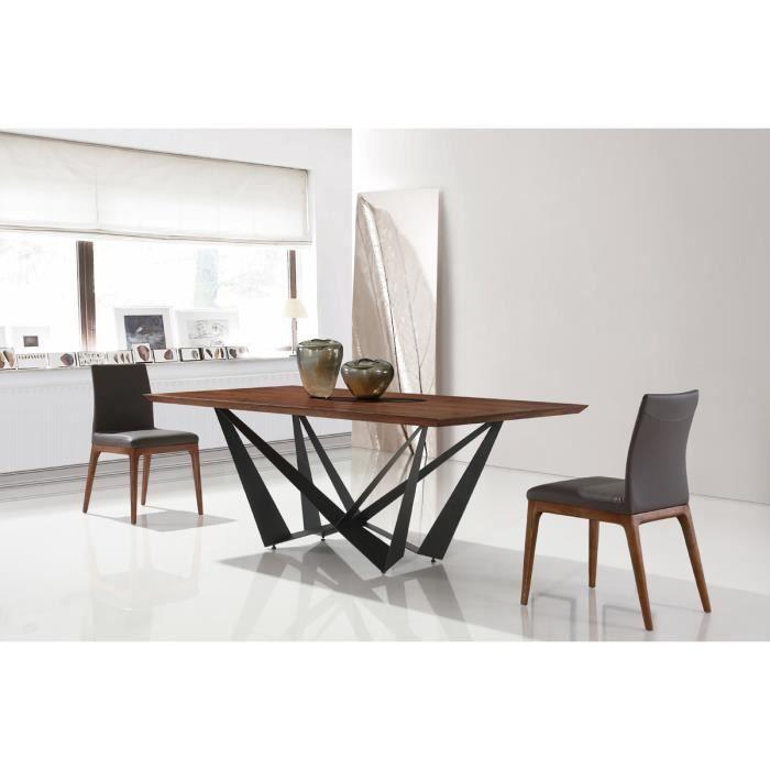 Designetsamaison Table A Manger Rectangulaire Design En Bois