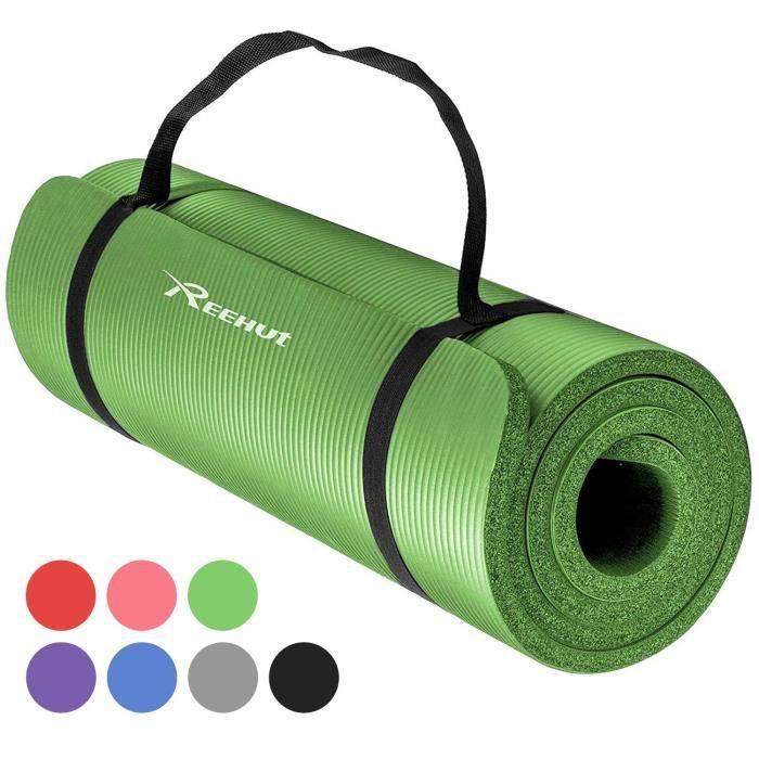 Extra épais haute densité NBR Large Exercice Tapis De Yoga Pilates Fitness Entrainement Gris