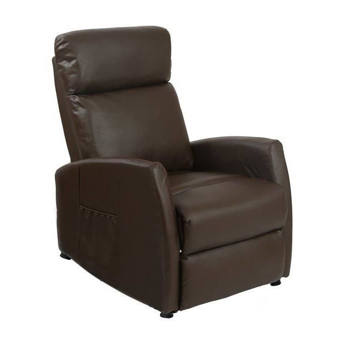 fauteuil de massage couleur brun achat vente fauteuil marron cdiscount. Black Bedroom Furniture Sets. Home Design Ideas