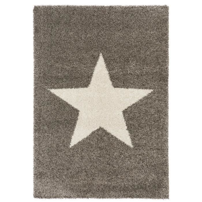 benuta tapis poils longs graphic star gris 160x230 cm achat vente tapis cdiscount. Black Bedroom Furniture Sets. Home Design Ideas