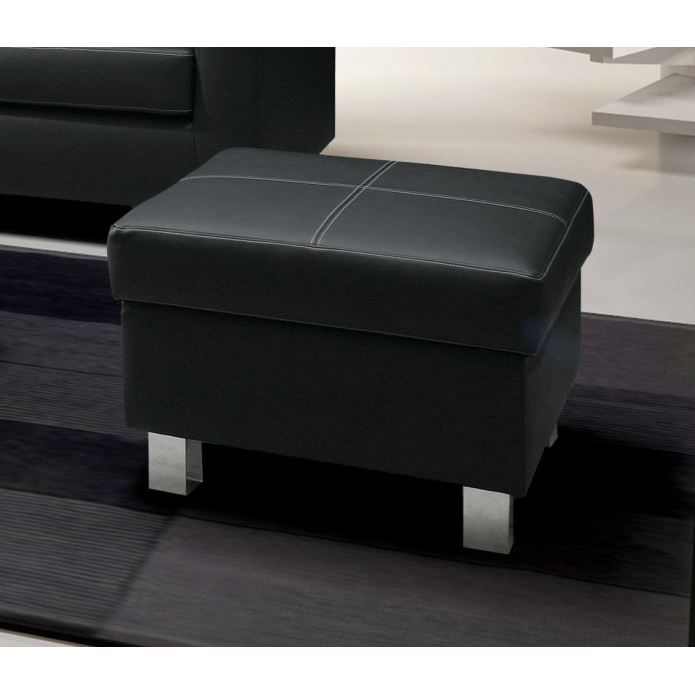 petit pouf coffre nora simili cuir coloris noir achat. Black Bedroom Furniture Sets. Home Design Ideas