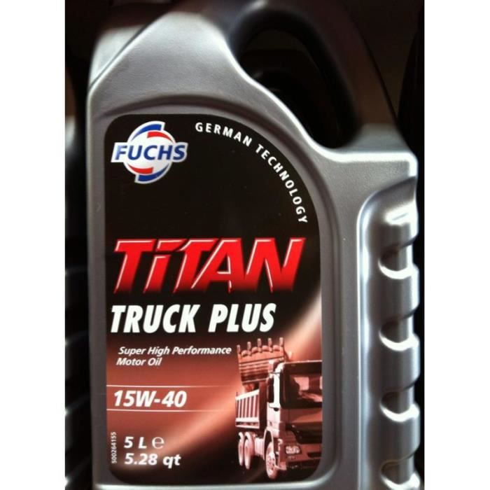 fuchs titan truck plus 15w40 5l achat vente huile moteur fuchs titan truck plus 15w4. Black Bedroom Furniture Sets. Home Design Ideas