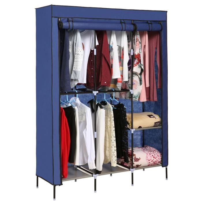armoire penderie de v tements placard tige double organisateur de placard de rangement achat. Black Bedroom Furniture Sets. Home Design Ideas