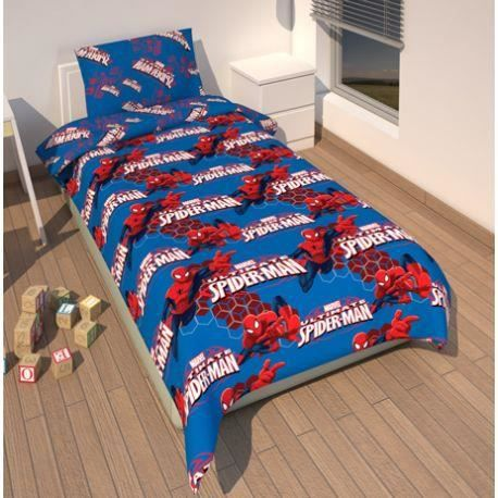 housse de couette enfant spiderman achat vente housse de couette cdiscount. Black Bedroom Furniture Sets. Home Design Ideas