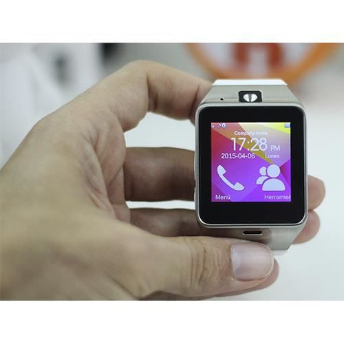Smartwatch avec appareil photo t l phone cran tactile for Appareil photo ecran 180
