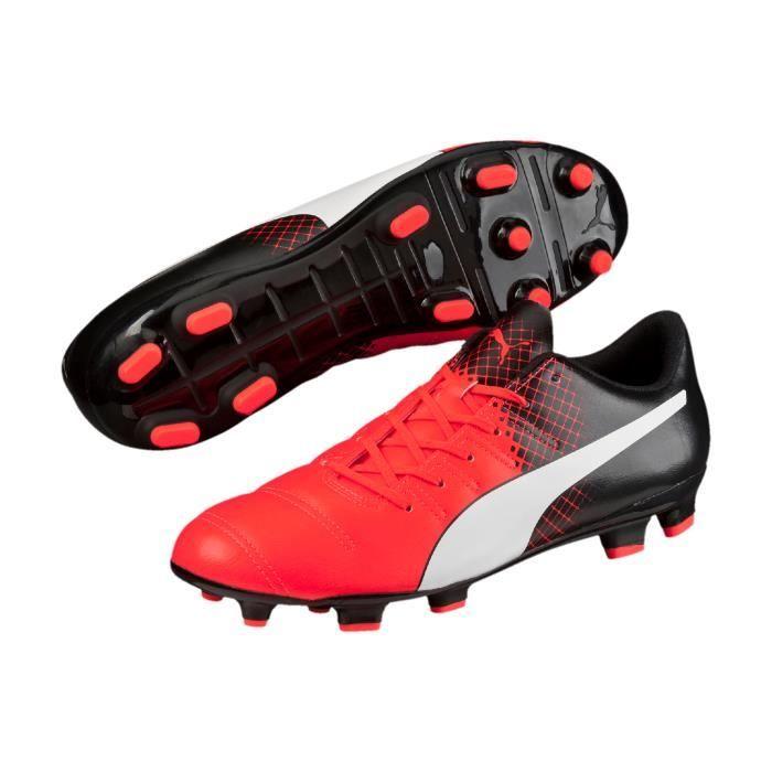 Chaussures football Puma EvoPOWER 4.3 FG RougeBlancNoir
