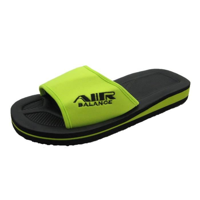 Air Men's Comfy Wide Strap Light Eva Sandals In Classy Colors Q2E23 Taille-40 1-2