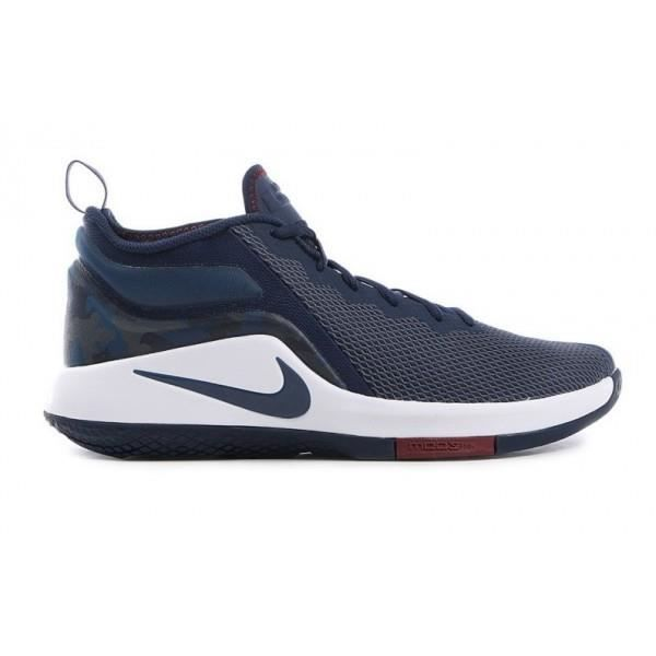 online store 2bc04 b7bd2 Chaussure de Basketball Nike Zoom Lebron Witness 2 Bleu Navy pour homme