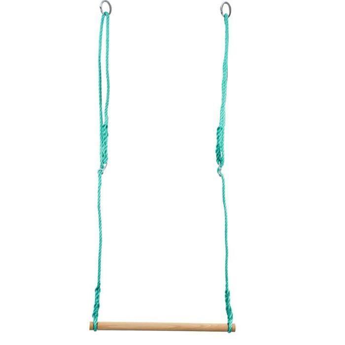 BALANÇOIRE - PORTIQUE Trapèze barre bois 60 cm