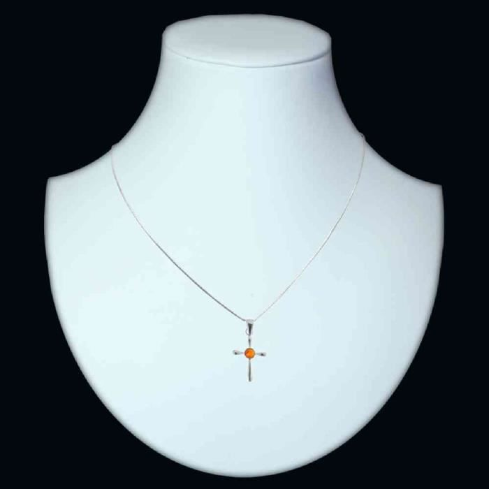 In Collections - 241a203429l100 - Collier Femme - Argent 925-1000 - Ambre NN8R9