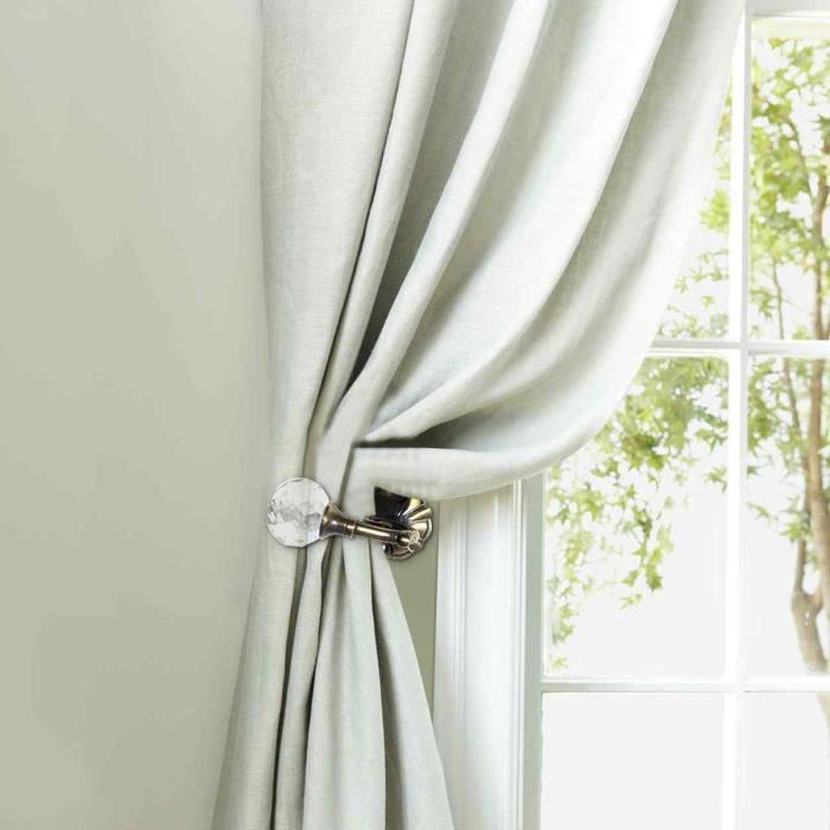 Poser Des Tringles À Rideaux Avec Coffre Volet Roulant 2pcs supports de tringle à rideau boule de cristal métal rideaux crochets  attachés (bronze)