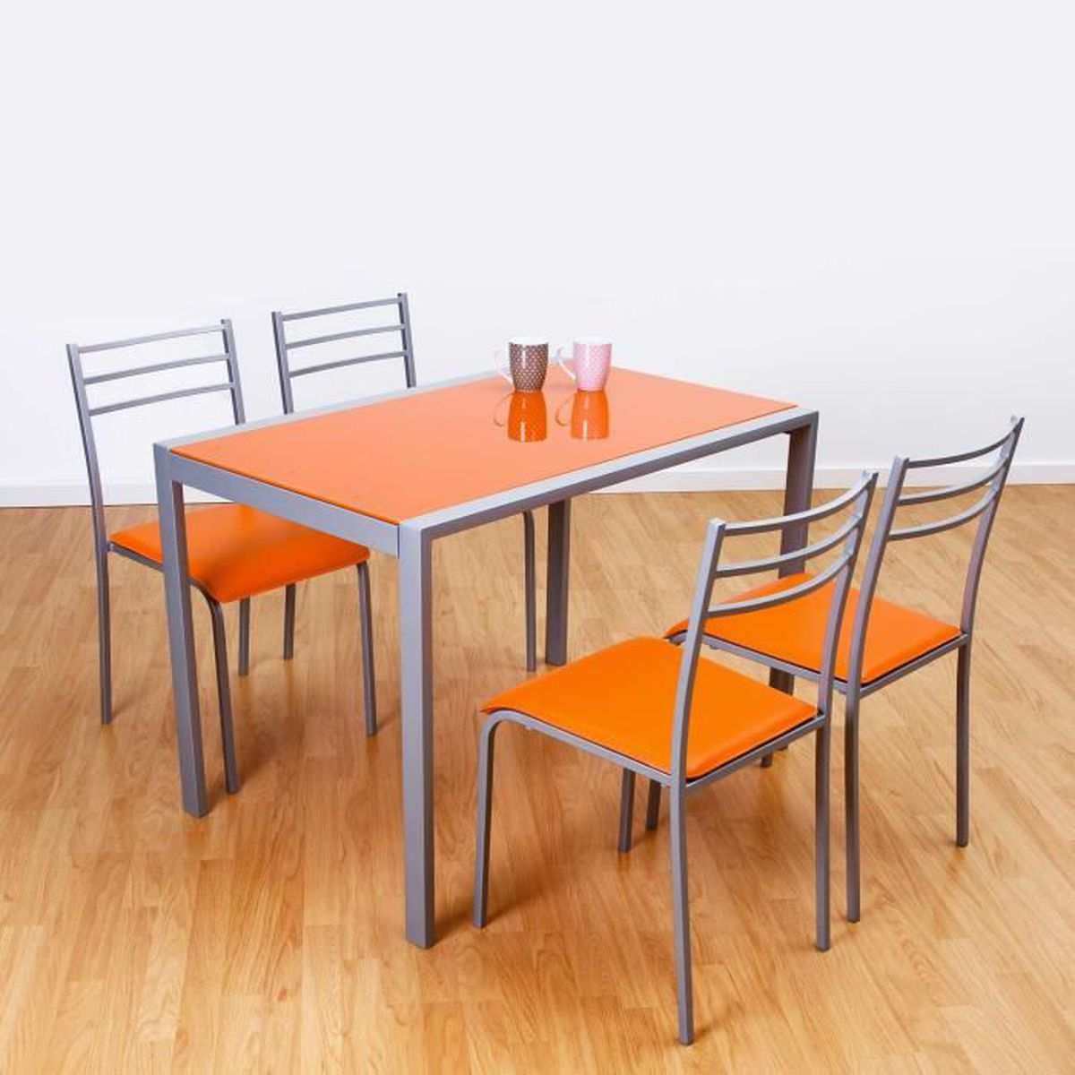 Ensemble table et 4 chaises alpha orange achat vente table a - Ensemble table et 4 chaises ...