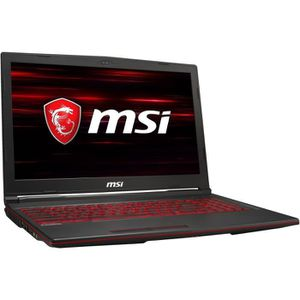 "Achat PC Portable MSI PC Portable Gamer GL63 8RD-021XFR - 15,6"" FHD - i5-8300H - RAM 8Go - 1To HDD + 128Go SSD - GTX 1050 Ti 4Go - Sans Windows pas cher"