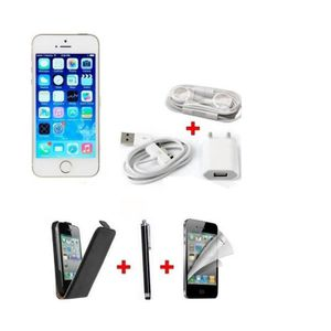 SMARTPHONE PACK - APPLE IPHONE 5S GOLD + ETUI + FILM + STYLET