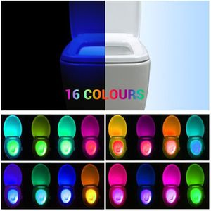 ABATTANT WC 16-couleur LED Lampe de Toilette Lumineux LED mult