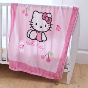 couvre lit plaid hello kitty b b achat vente couvre lit plaid hello kitty b b pas cher. Black Bedroom Furniture Sets. Home Design Ideas