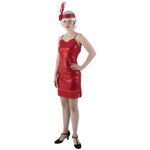 DÉGUISEMENT - PANOPLIE Déguisement Charleston femme robe rouge franges