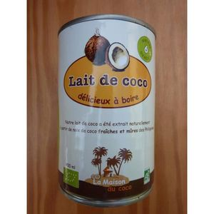 LAIT CONCENTRÉ Lait de coco biologique 400ml à boireDLUO : 22/...