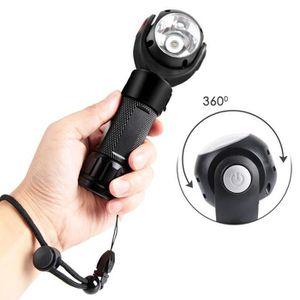 LAMPE DE POCHE Torche Lampe de Poche LED Rechargeable, Rotation d