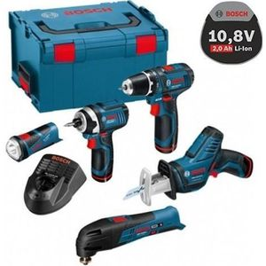 PERCEUSE Pack de 5 machines BOSCH 12V 2Ah Li-Ion en L-BOXX