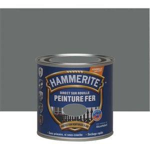 PEINTURE - VERNIS Hammerite fer martelé 0.25l gris ardoise