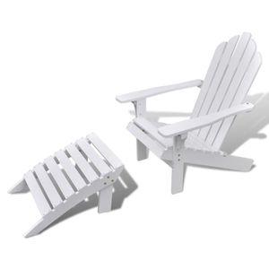 Ensemble table et chaise de jardin Chaise de jardin salon patio terrasse en bois faut