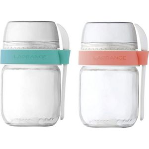 PIÈCE POUR FAIT-MAISON  Lagrange - lot de 2 pots en verre pour yaourtière