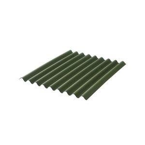 PLAQUE - BARDEAU Plaque bitumée ondulée - L: 2 m - l: 86 cm - Vert