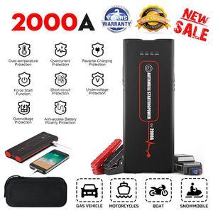 STATION DE DEMARRAGE 12000mAh 2000A Peak Chargeur Batterie Voiture Déma