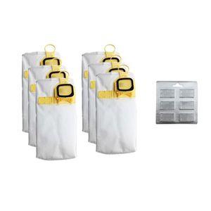 r/éutilisable pour aspirateur Karcher MV 5 P; MV 6 1x Sac-filtre tissus /à fermeture /éclair