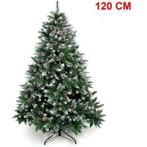 YORBAY Sapin de Noël avec pied 120 cm - décoration de Noël, décoration avec neige