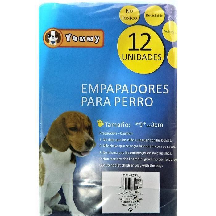 Couches jetables pour chiens Incontinence 60x60cm 12 Pcs