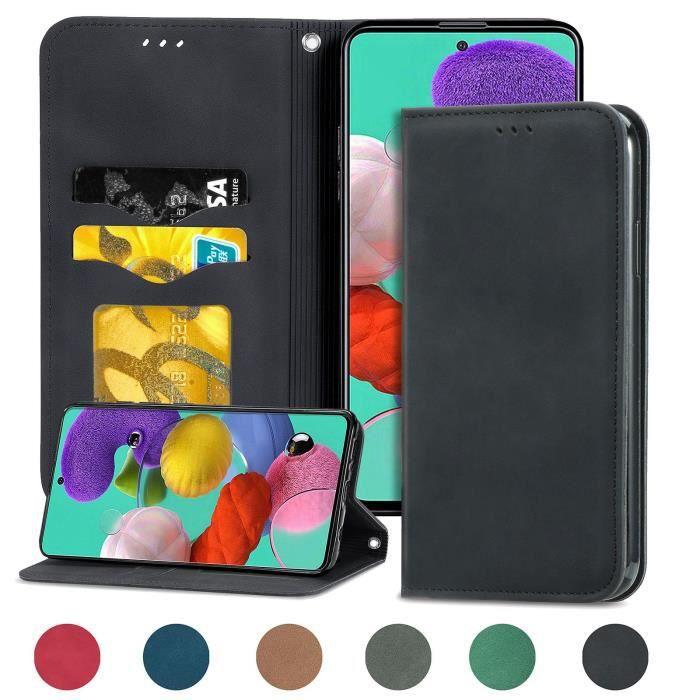 Housse de protection pour Samsung Galaxy S20 FE 4G-5G (Noir ) type portefeuille (support carte de credit)